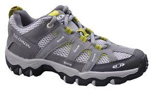 Salomon Mambo Aero Boys Grey Green Trainers Shoes UK 3.5 EU 36
