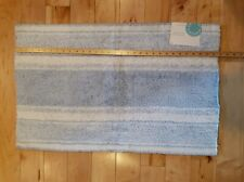 Martha Stewart Collection Bath Rug 20x32 Light Blue/White-Blue Reversible NEW