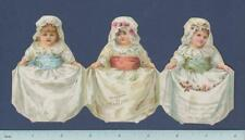 Die Cut Victorian Pearline Soap Trifold Trade Card: Girls in Lace