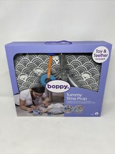 Boppy- 2-6 Months Tummy Time Prop with Teether and Toy- Gray