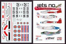 lh715/ Lift Here Decals - T-33 - F-86 - F-84G - U.S. Jets in Jugoslawien - 1/72