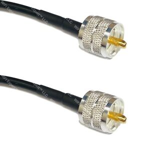 TIMES® LMR240 LOW LOSS COAX RF CABLE UHF PL259 MALE TO UHF MALE RADIO USA LOT