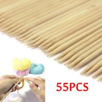 55PCS/Set 11 Sizes Double Pointed Carbonized Bamboo Knitting Needles 2mm- 5mm