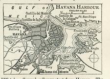1897 Gulf of Havana Harbour Original Antique print Cuba
