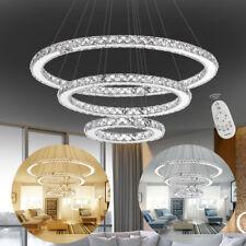 96W Dimmbar LED Kristall Hängelampe Deckenlampe Pendellampe Lüster Kronleuchter