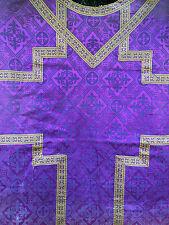Chape Chasuble Liturgique Broderie Prêtre Aube Ancien 13