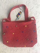 Parrot Theme Shoulder Bag Small Purse Messenger Cross Body Bag Red 9 x 7 x 2 3/4
