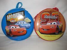 Lot of 2 Disney Cars CD/DVD Cases Hold 24 - Lighting McQueen - NWT