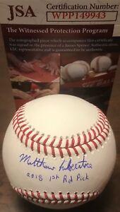 Matthew Liberatore Cardinals Signed Baseball JSA WITNESS COA 2018 1st Rd Pick A