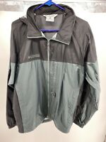 Men's Columbia Green/Black Packable Rain Jacket Size M