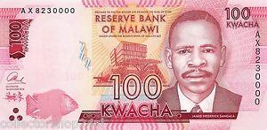 Malawi 100 Kwacha 2016 Unc Pn 65c