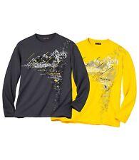 Atlas For Men Long Sleeve Tee-Shirts Mountain Sport Medium 2 Pack TD181 QQ 13