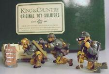 KING & COUNTRY WW2 GERMAN ARMY WS010 M42 MACHINE GUN CREW & WALL EXIB