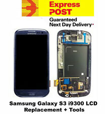 Samsung Galaxy S3 i9300 LCD Digitizer Touch Screen Frame Replacement Blue +Tool