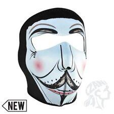 Vendetta Mustache Neoprene Full Face Mask Biker Ski Motorcycle Costume Paintball