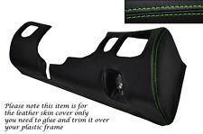 Verde Stitch conductor Inferior Tablero Trim Piel tapa se ajusta Mitsubishi Gto 3000gt 92-99