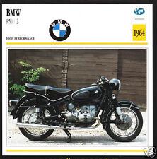 1964 BMW R50 / 2 500cc (494cc) German Bike Motorcycle Photo Spec Sheet Info Card