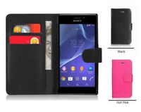 black WALLET phone Case Card Slots for Sony Xperia XZ3 UK free post