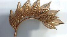 Vintage Coro Goldtone Layered Leaf Brooch
