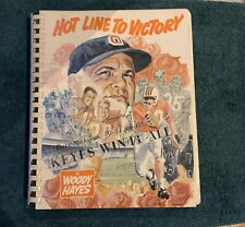 Woody Hayes Hot Line To Victory football coaching book - 1969 - Signed Autograph