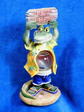 Hawaiian Shirt Tourist Alligator Sandals Snow Globe Belly Holding Delicious Sign