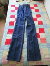 Vintage rare high waisted Denim Pants jeans Youthlines 70s hippie raw hemmed 3