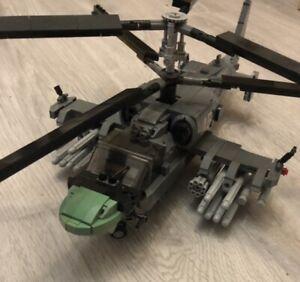 Custom modern Russian helicopter k52 alligator brickmania LEGO part build