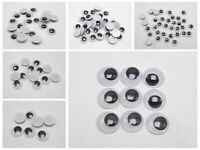Moving Wiggly Wobbly Googly Eyes foy DIY Doll Scrapbooking crafts Pick Your Size