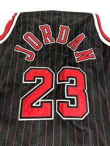 Nike Michael Jordan Black w/ Red Pinstripe Limited Ed. Flight 8403 Jersey XXL