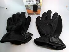 Power Trip Motorcycle Gloves Black Cow Hide Leather Man L