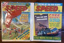 UK COMICS - Speed No.1 and No.2 + Free Gift. 1980.