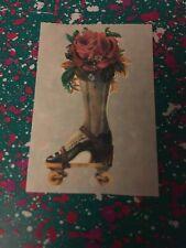 Sandylion Vtg Sticker RARE Victorian Boot Roses High Heel