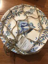 Pottery Barn Bermuda Melamine Salad Plates Set Of 4 New In Box