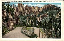Custer State Park South Dakota USA AK ~1920/30 Horse Shoe Curve Needles Highway
