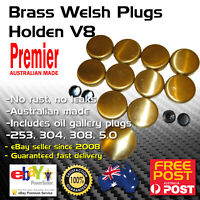 HOLDEN V8 253 308 304 EFI 5.0L BRASS WELCH WELSH CORE FREEZE PLUG KIT FULL SET