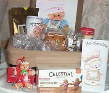 Gingerbread Gift Basket Coffee Spice Tea Mug Cookie Cutter Cocoa Cream Tray Suga