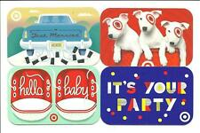Lot of (4) Target Gift Cards No $ Value Collectible Just Married Party Dogs Baby
