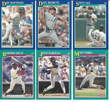 1991 Score New York Yankees Team Set