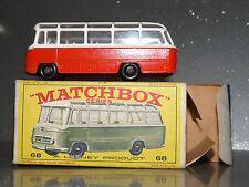 Matchbox Regular Wheels No. 68 Mercedes coach in Orange / White mint