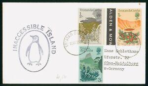 Mayfairstamps Tristan DA Cunha 1976 Penguin Cachet Inaccessible Island Cover wwo