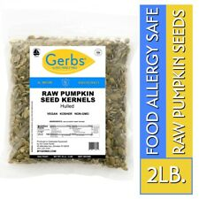 Raw Pumpkin Seed Kernels, 2 LBS Food Allergy Safe & Non GMO Pepitas by Gerbs