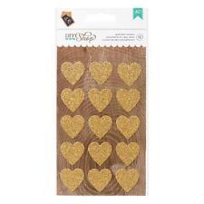 American Crafts DIY Shop - Stickers Gold Glitter Heart