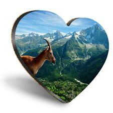 Heart MDF Coasters - Mountain Goat Chamonix France  #12204