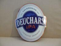 CALEDONIAN DEUCHARS PLASTIC   Ale Beer Pump Clip