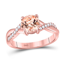 Engagement & Wedding Jewelry & Watches Heart-shaped Morganite And Real Diamond Accent Ring 10k Rose Gold