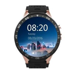 New Kingwear KW88 Sport Quad Core GPS Bluetooth Smart Watch With Heart Rate WIFI