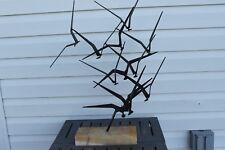 Curtis Jere Birds Flying Mid Century Modern Sculpture Signed ESTATE PIECE