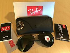 Authentic RAY BAN AVIATOR 3025 Aviator Black FRAME POLARIZED RB 3025 002/58 58MM