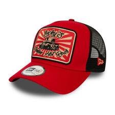New Era Hot Rod Trucker Snapback Baseball Cap - Red/Black