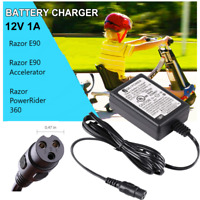 12V Scooter Battery Charger for Razor E90, Jr. Electric Wagon, Mambo Liberty 312